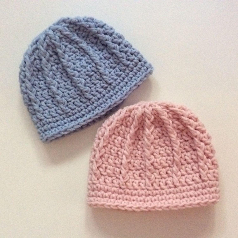 Preemie Crochet Twin Hats Twins Baby Gifts Twin Hospital Hat