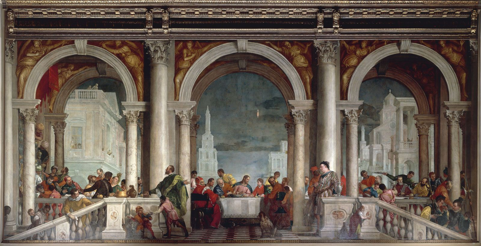 PAOLO VERONESE, c. 1528 - 1588: The Feast in the House of ...