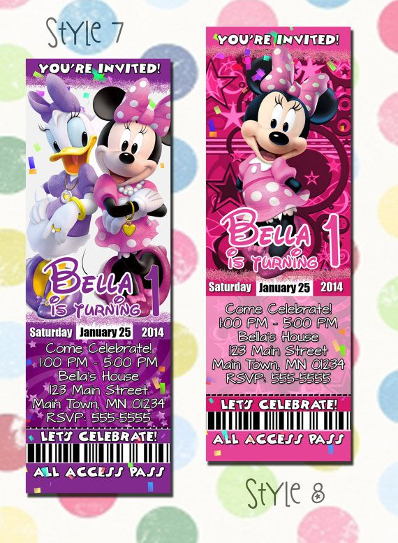 Minnie Mouse Daisy Duck Birthday Party Invitation By DigiPopCards 1299