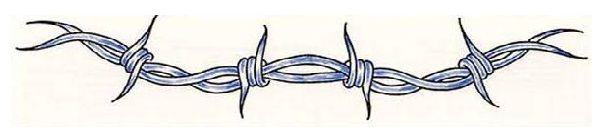 Barbedwire Tattoo Classic Grey Ink Barbed Wire Tattoo Design