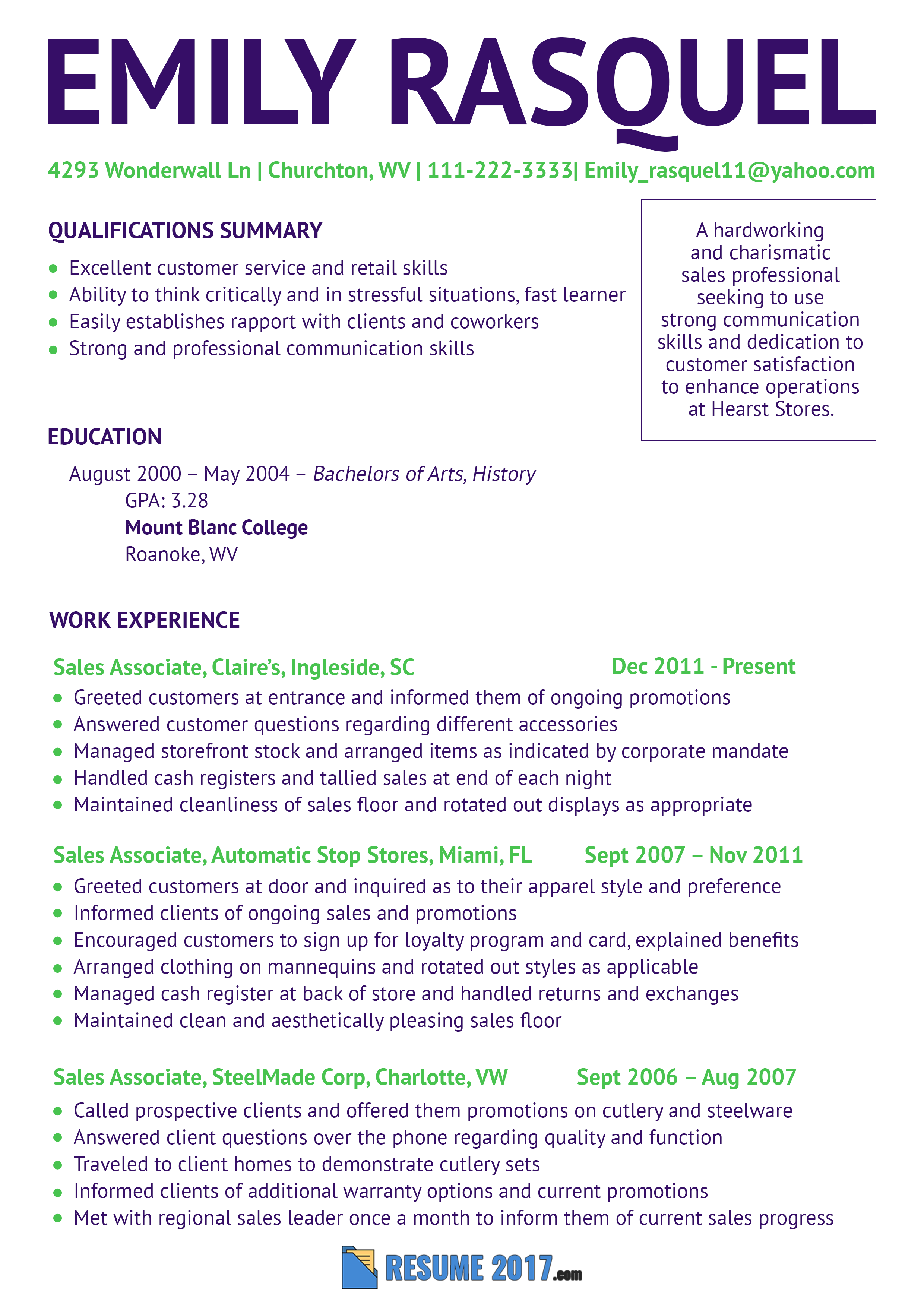 Sales Rep resume latest sample that will inspire you to