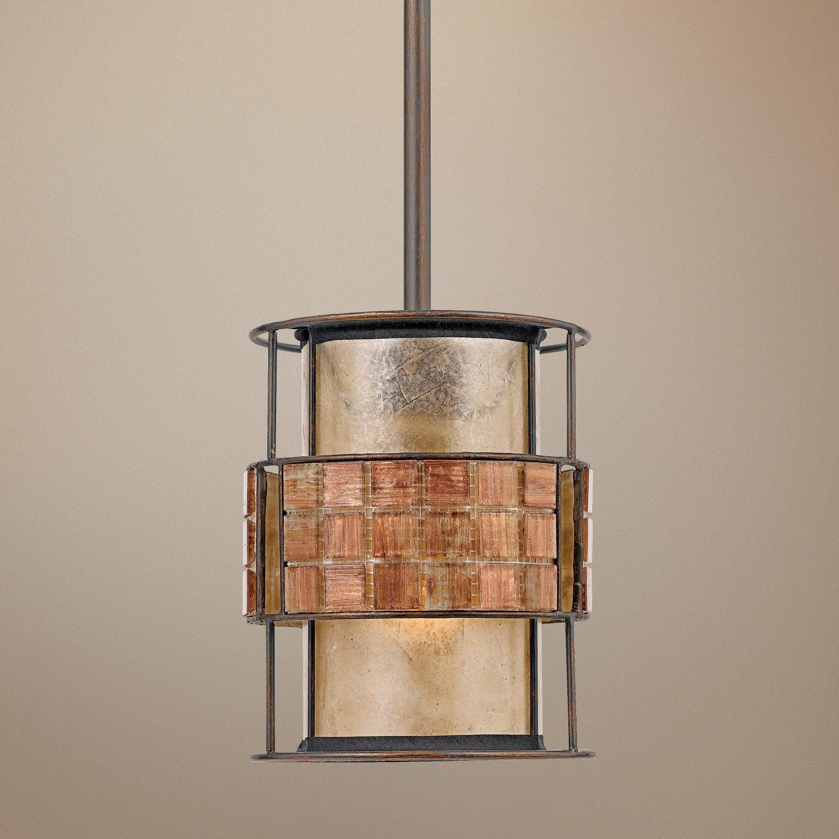copper mini pendant light. Quoizel 1 Light Laguna Mini Pendant In Renaissance Copper - C