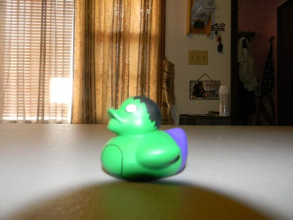 Handpainted Hulk Rubber Duck by CreationsBySanders on Etsy, | rubber ...