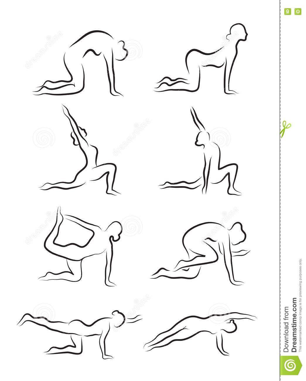Pin By Dora Dora On Art Inspiration Sketches Yoga Asanas Vector Images