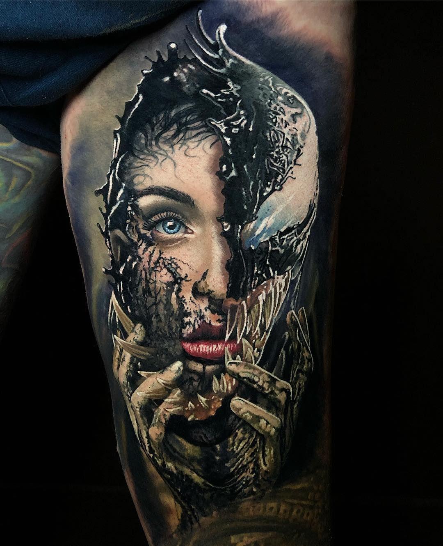 Rad first tattoo of the year venom marvel marvelstudios