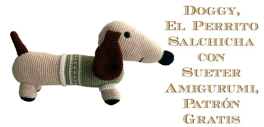 Perrito salchicha con sueter de cuello alto | amigurimis | Pinterest ...