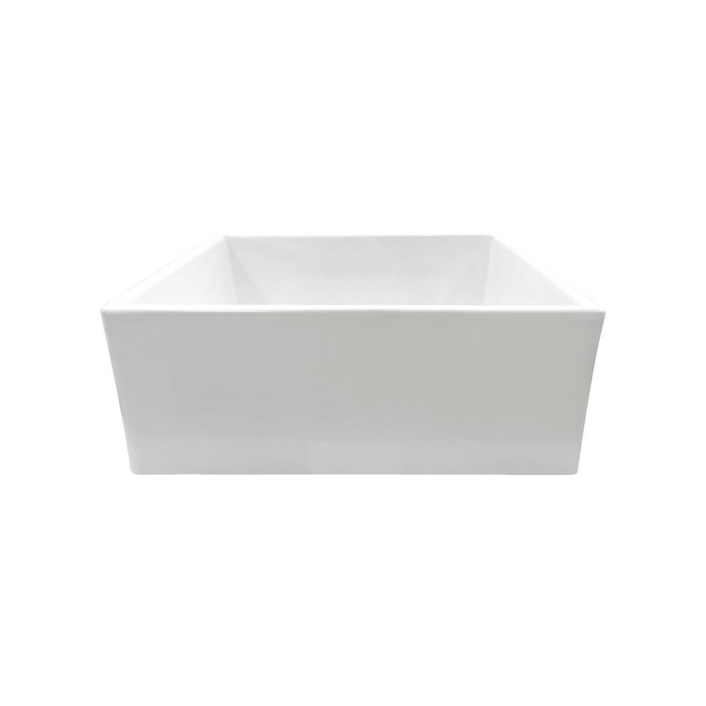 IPT Sink Company Apron Front Fireclay in Single Bowl Kitchen