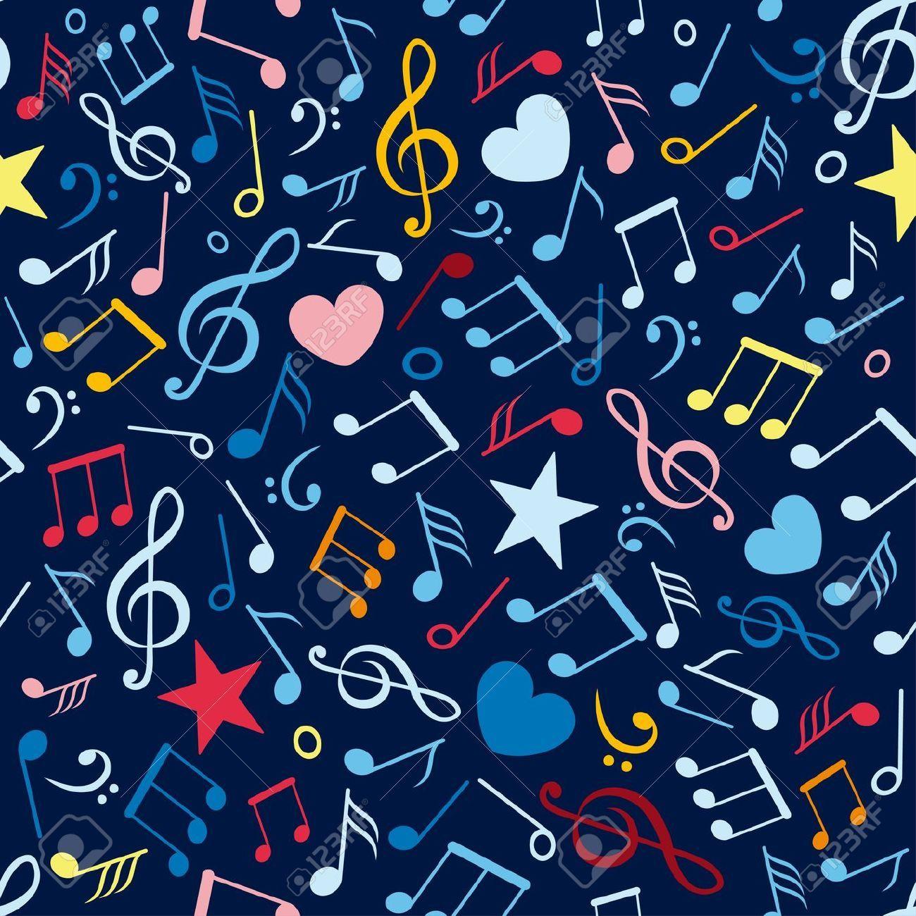 Wallpaper De Notas Musicales De Colores Pop Art Wallpaper Music Notes Music Wallpaper