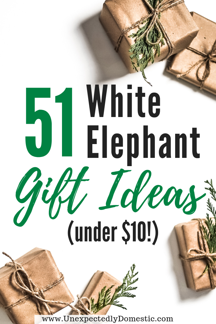 51 Cheap Creative Gift Ideas Under 10 That People Actually Want White Elephant Gifts Exchange Elephant Gifts White Elephant Gifts Funny