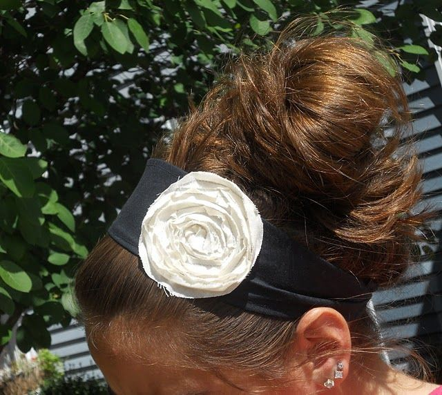 flower headband tute
