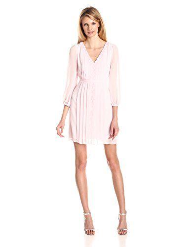 3f942e0c5e Jessica Simpson Women s V-Neck Chiffon Dress