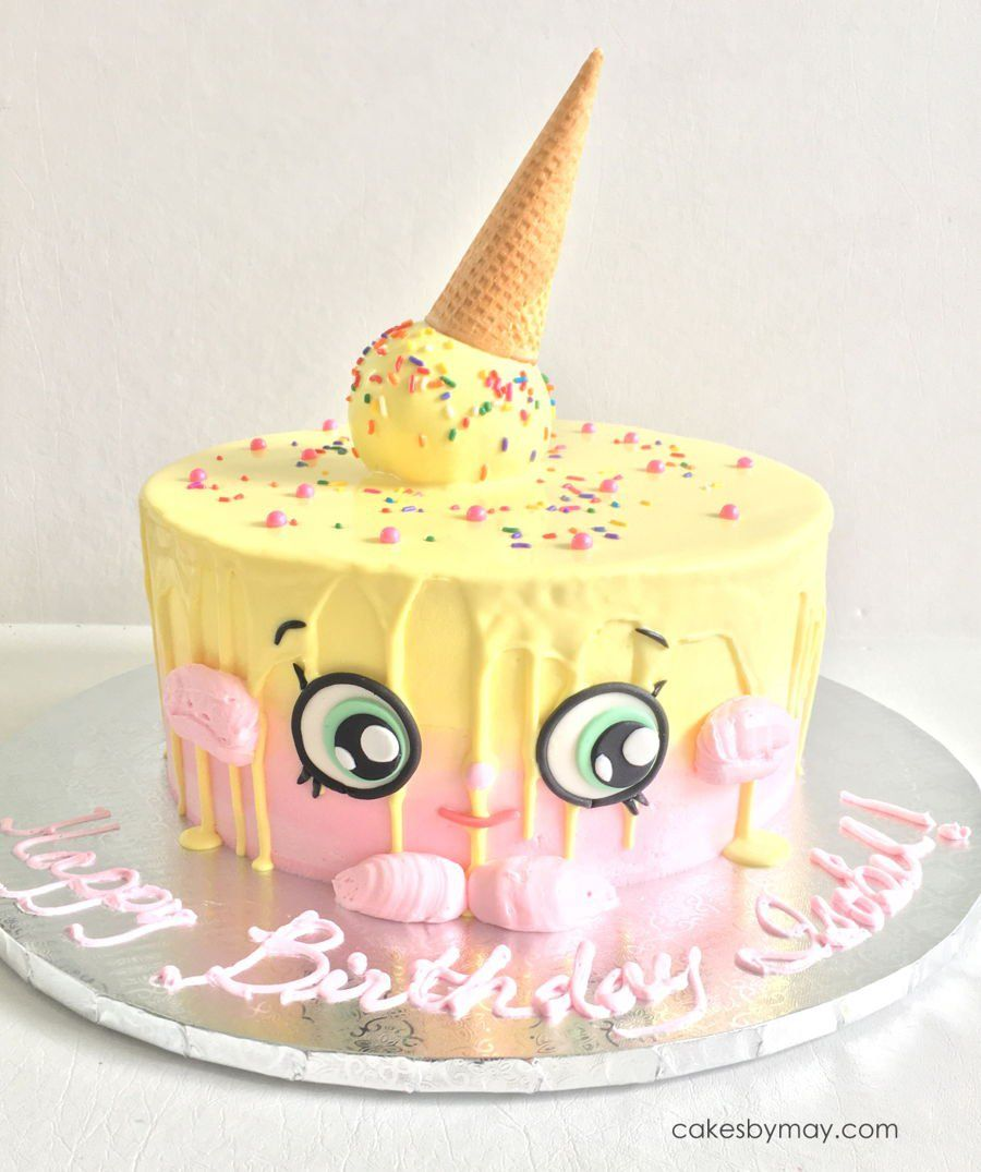 Awesome Shopkins Ice Cream Cake Kate Buttercream With Fondant Details Funny Birthday Cards Online Alyptdamsfinfo
