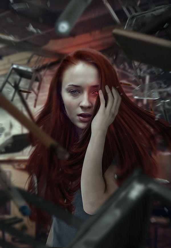 X,Men Apocalypse Sophie Turner Jean Grey Fan Art