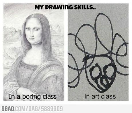 Me In An Art And In A Boring Class Artist Memes Artist Problems Artist Humor