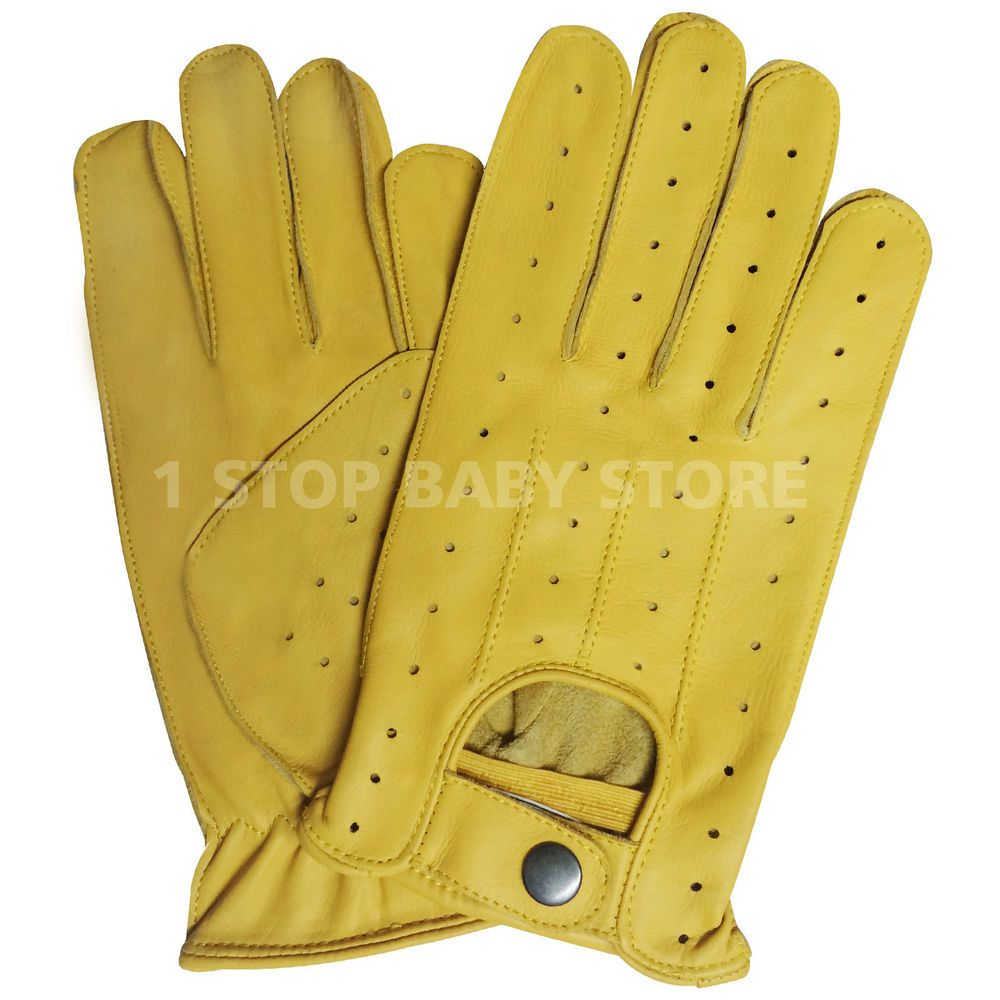 Half Finger Driving Gloves Soft Sheep Leather Men/'s Dress Chauffeur Style