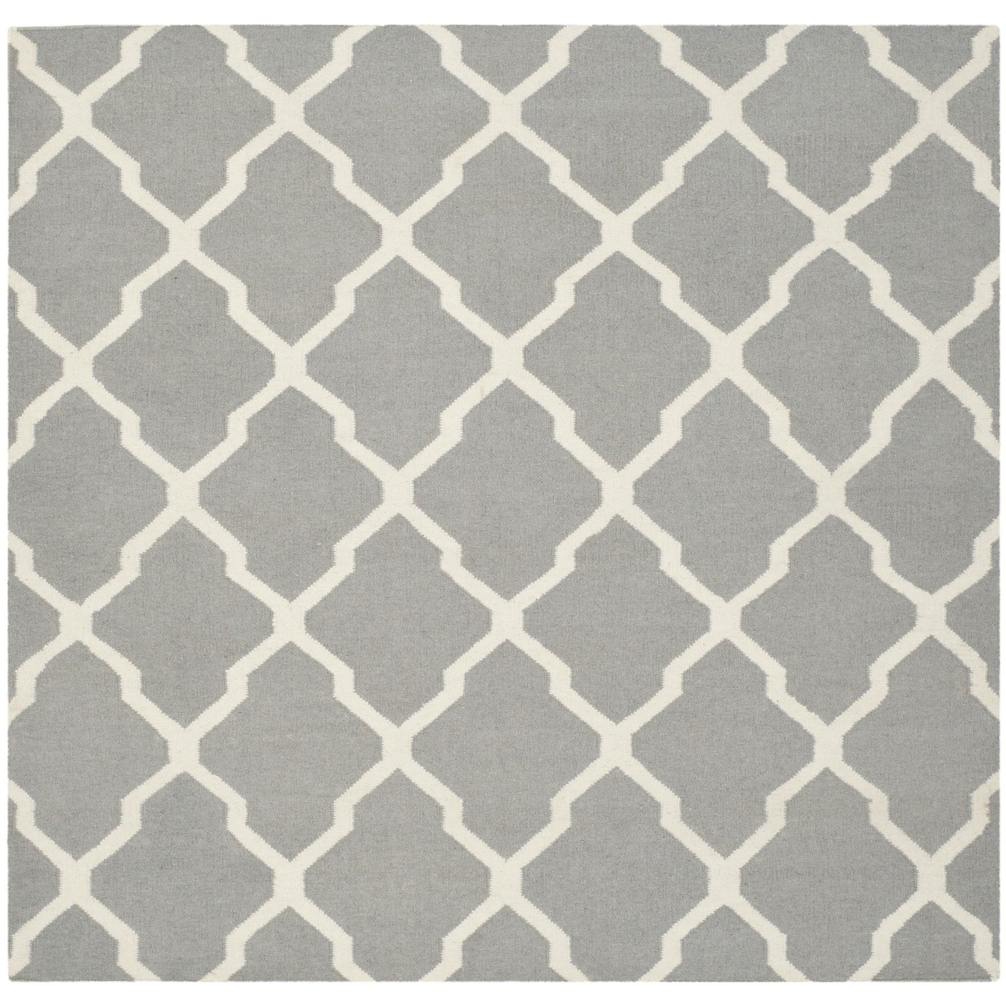 Dhurries Grey/Ivory Area Rug