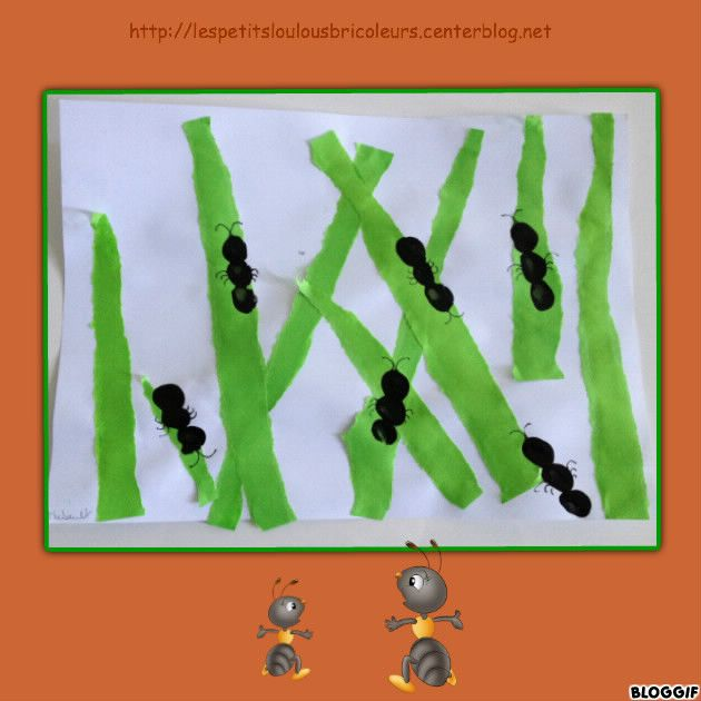 fourmis arts visuels pinterest fourmis bricolage enfant et insectes. Black Bedroom Furniture Sets. Home Design Ideas