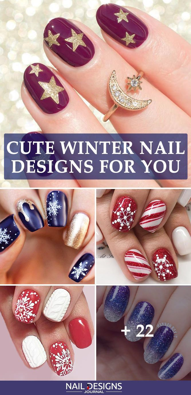 27 Cute Winter Nails Designs to Inspire Your Winter Mood | Winter ...