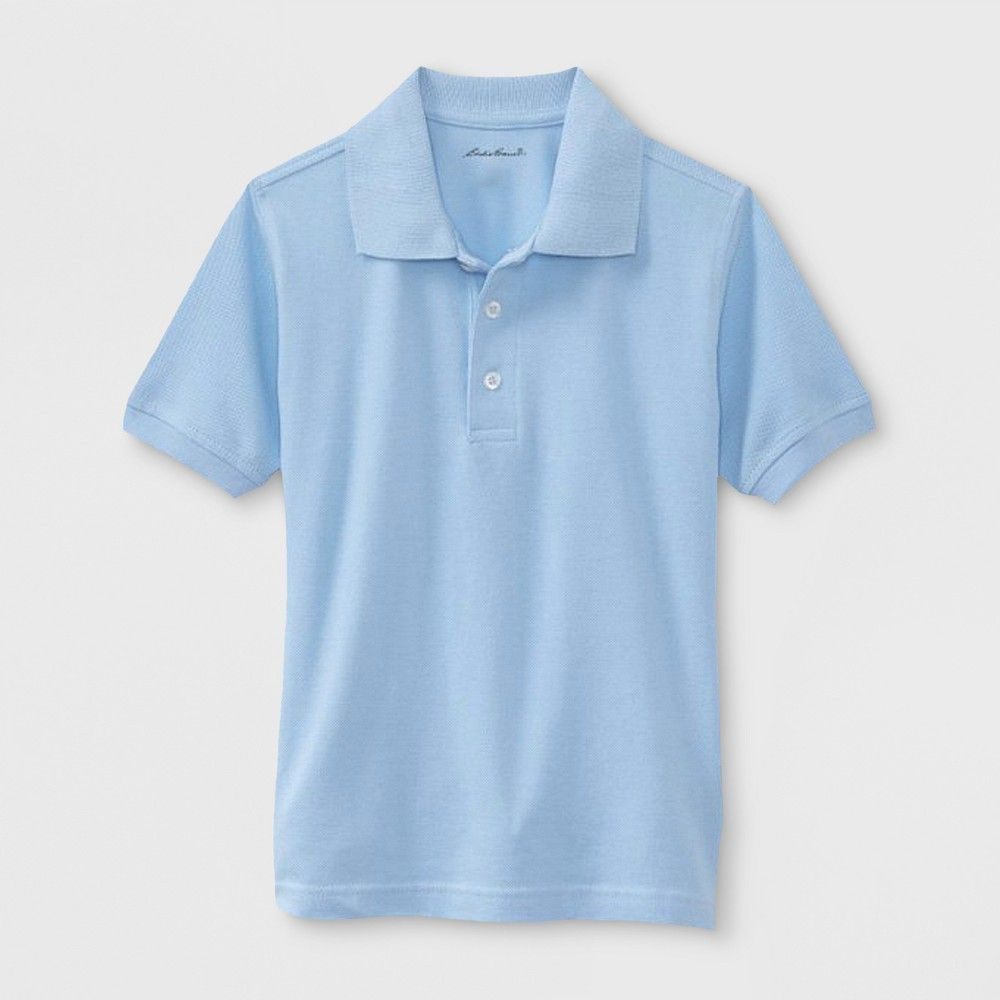 More Styles Available Eddie Bauer Boys Short or Long Sleeve Polo Shirt