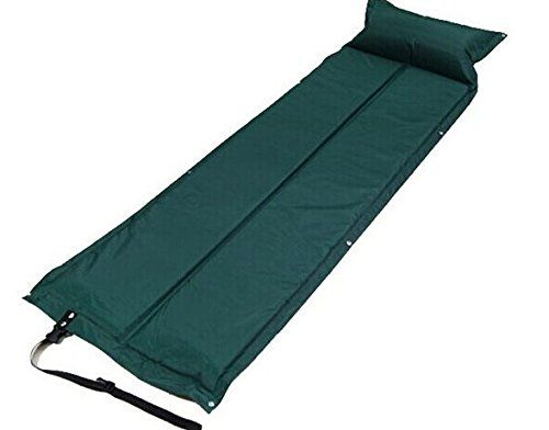 Portable Folding Single Camping Bed Ourdoor Travel Guest Mat Carry Bag Case UK