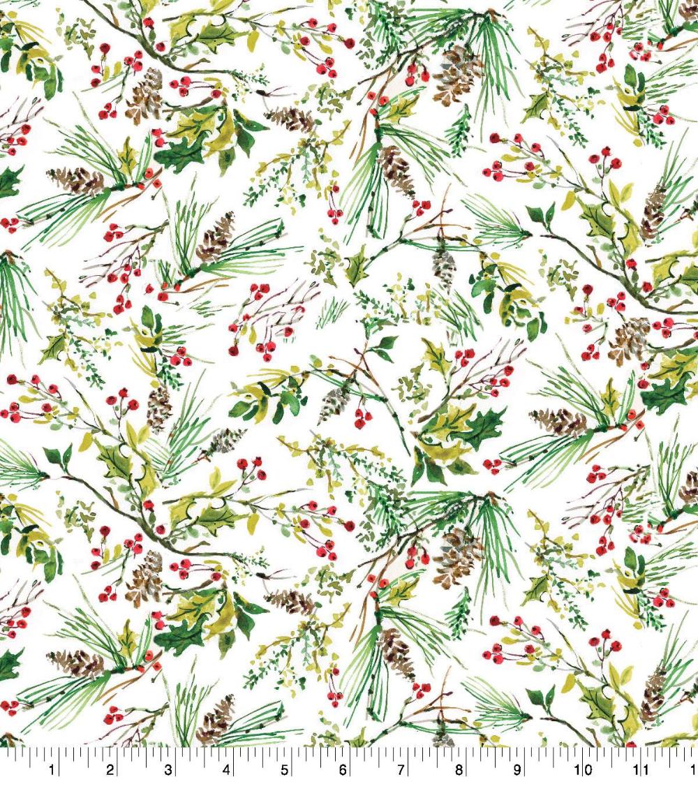 2020 Susan Winget Christmas Pinecones Tossed Susan Winget Christmas Cotton   JOANN in 2020