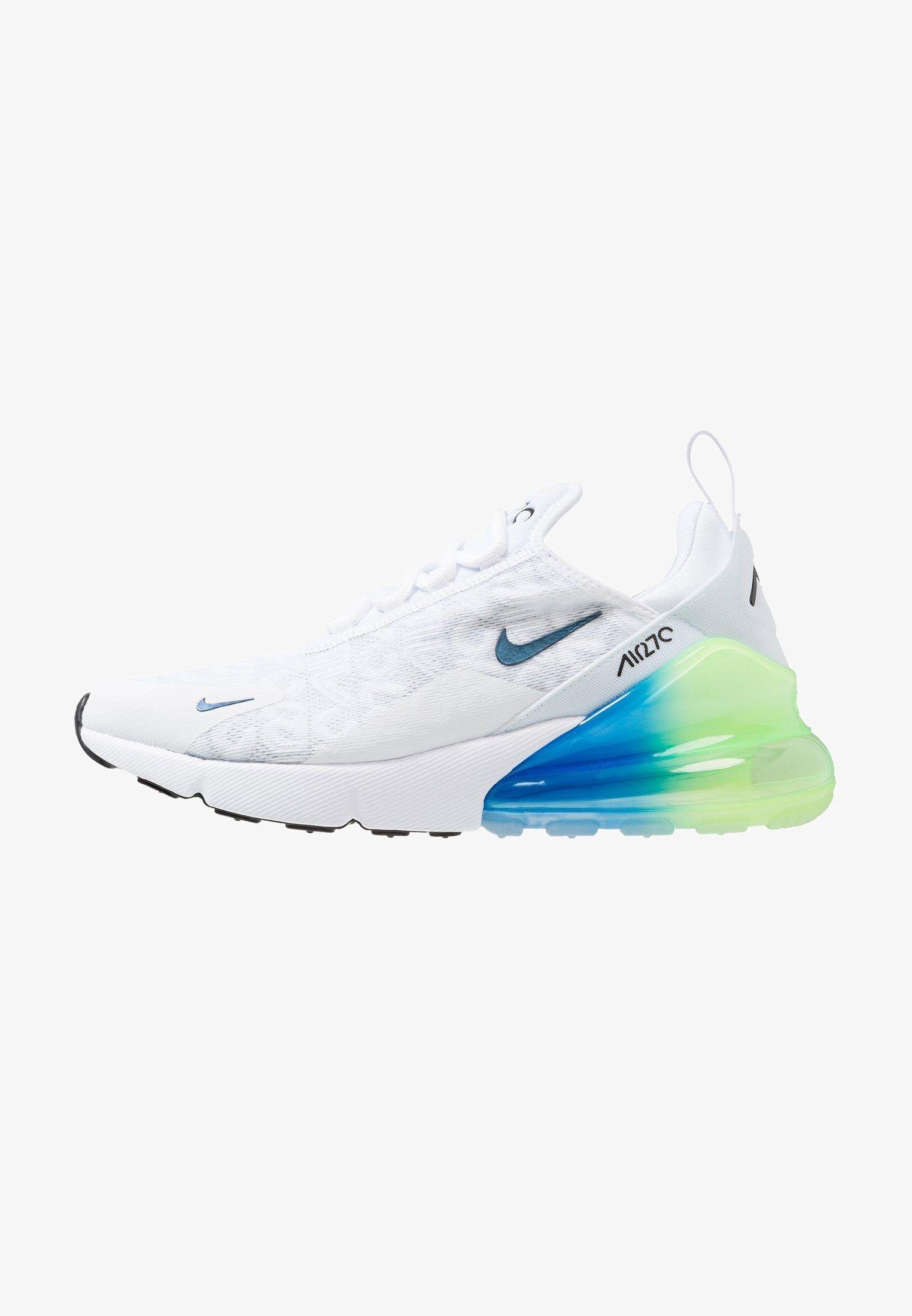 63d592c3f5 Nike Sportswear AIR MAX 270 - Sneakers laag - white/lime blast/photo blue -  Zalando.nl
