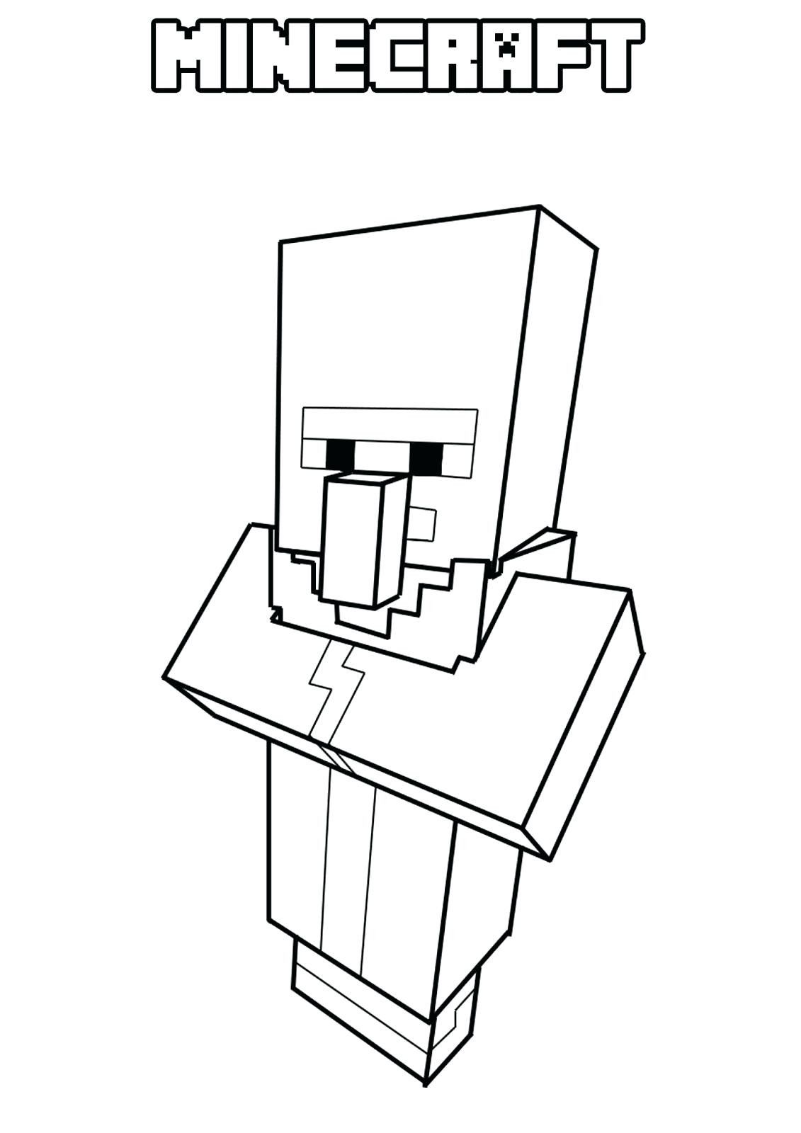 Minecraft Villager Coloring Page Youngandtae Com Minecraft Coloring Pages Easy Coloring Pages Coloring Pages