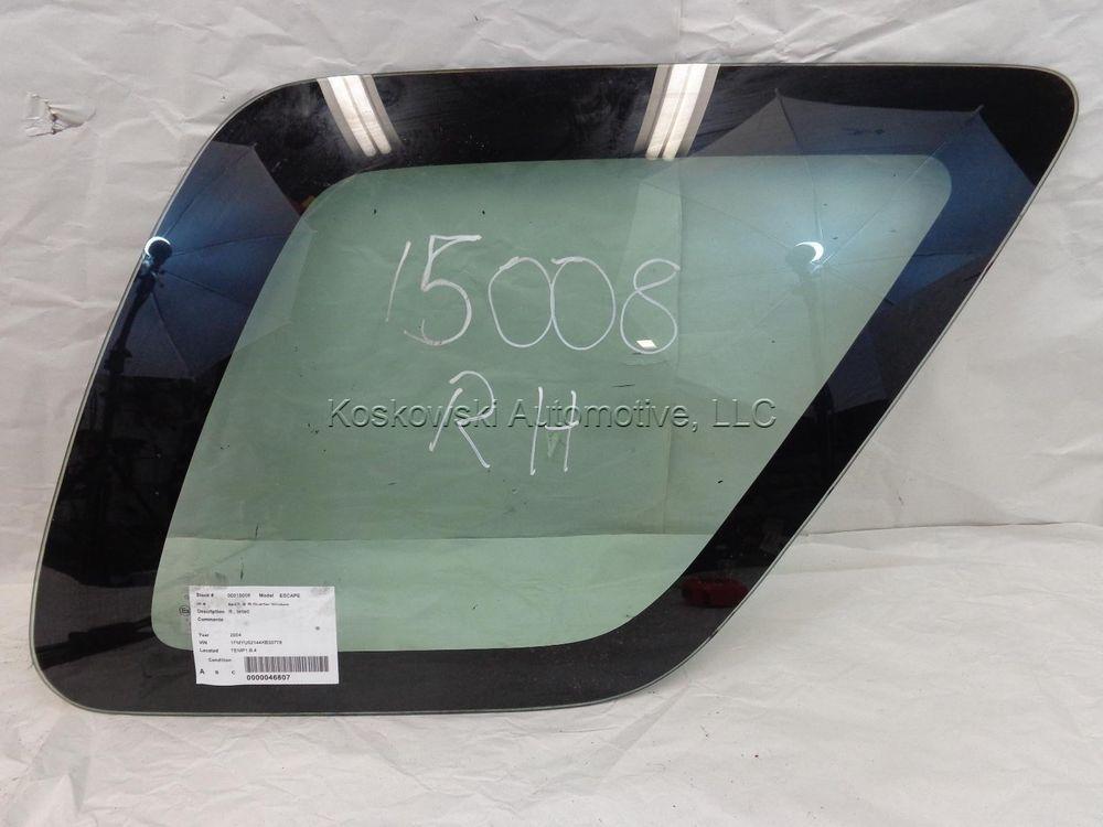 Ford Escape Quarter Glass Window Right Passenger Side 02 03 04 05 06 07 Tinted Ford Escape Glass Window Tints