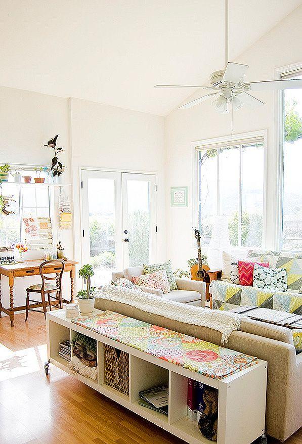 Coole Idee Mit Dem Ikea Regal Hinter Dem Sofa Hausliebe Pinterest