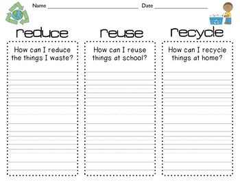 Reduce, Reuse, Recycle freebie! | Teaching-Earth Day | Pinterest ...