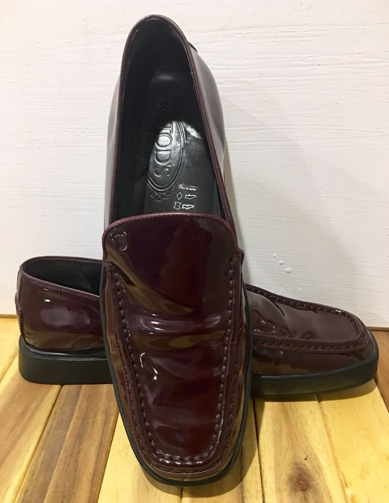 fa698733cca TODS Mens Brown Loafers Dress Shoes Made in Italy Shiny Penny Loafers EUC