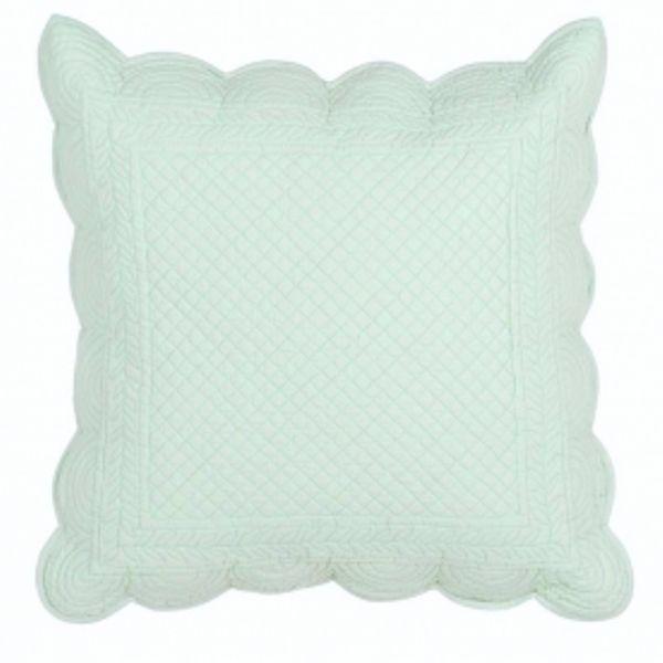 coussin boutis vert d 39 eau blanc mariclo coussins et galette de chaise pinterest eau. Black Bedroom Furniture Sets. Home Design Ideas