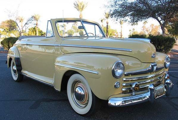 1948 Ford Super Deluxe Convertible. The karate kid car!