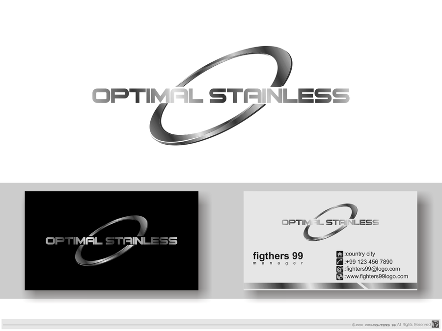 Create a creative logo for Optimal,Stainless by dhin™