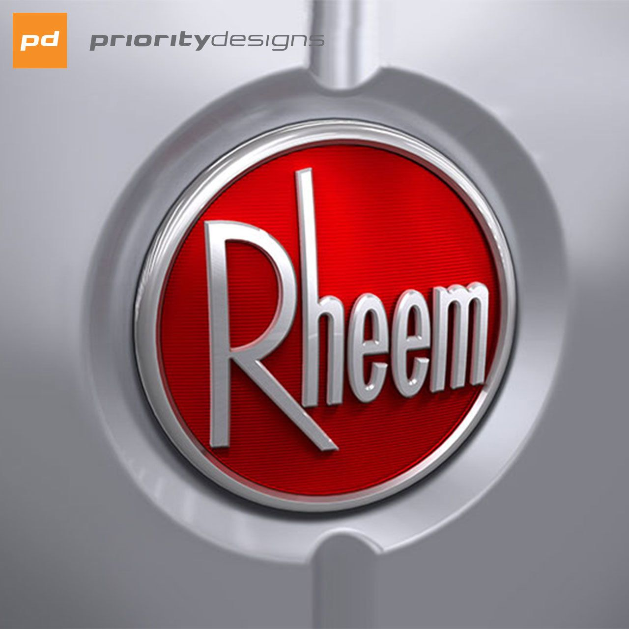 Here S The Badge For The Line We Developed With Rheem Heating And
