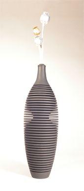 Moire Style Vase
