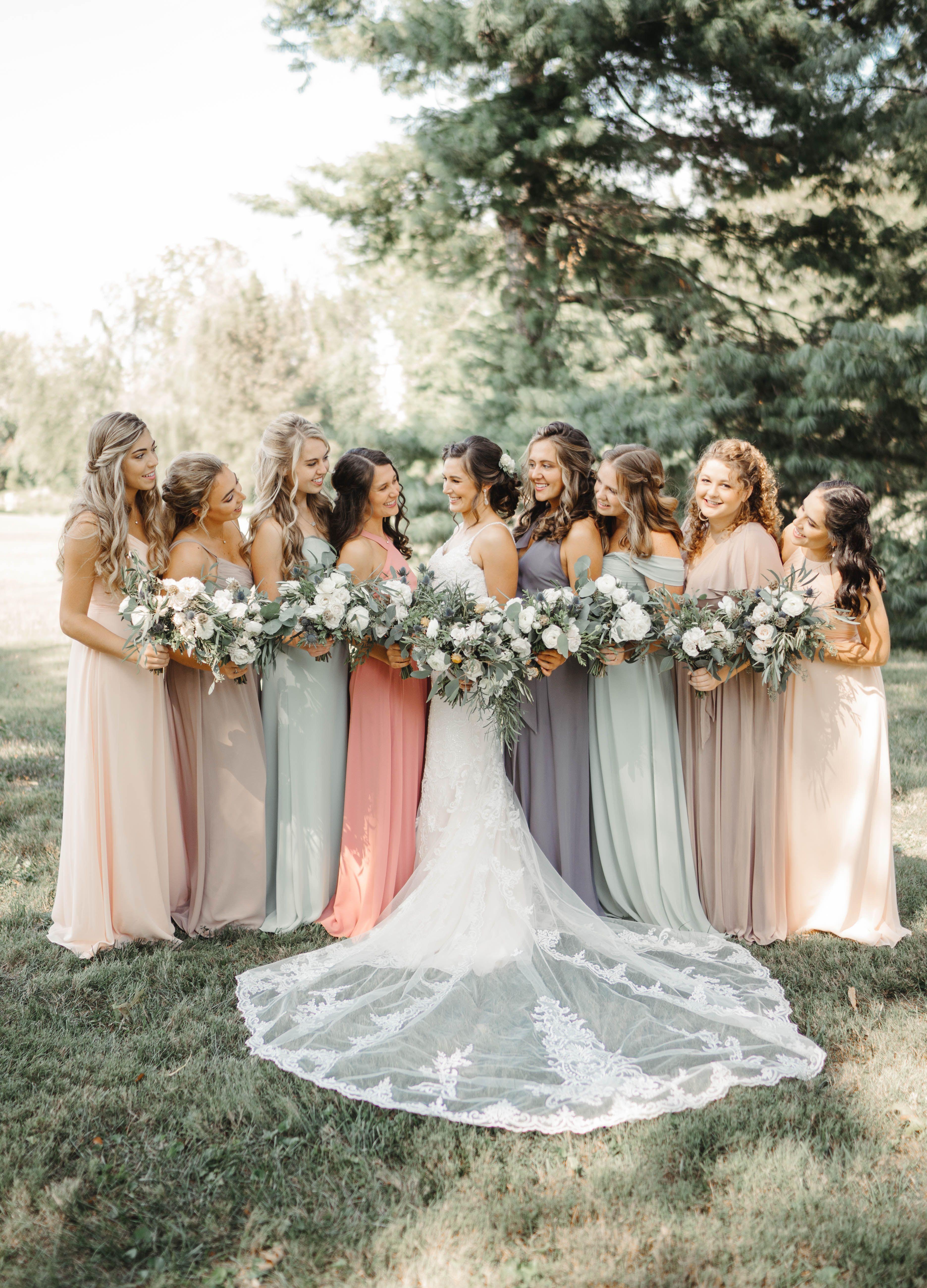 Bridesmaid Dresses For Garden Wedding Dusty Rose Bridesmaid Dresses Pastel Bridesmaid Dresses Rose Bridesmaid Dresses