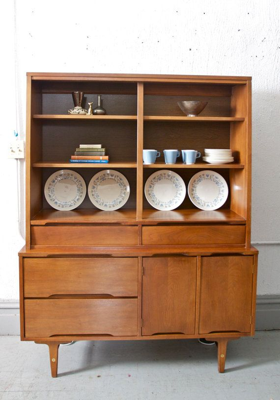 Mid Century Modern Hutch China Or Bar Cabinet By Stanley