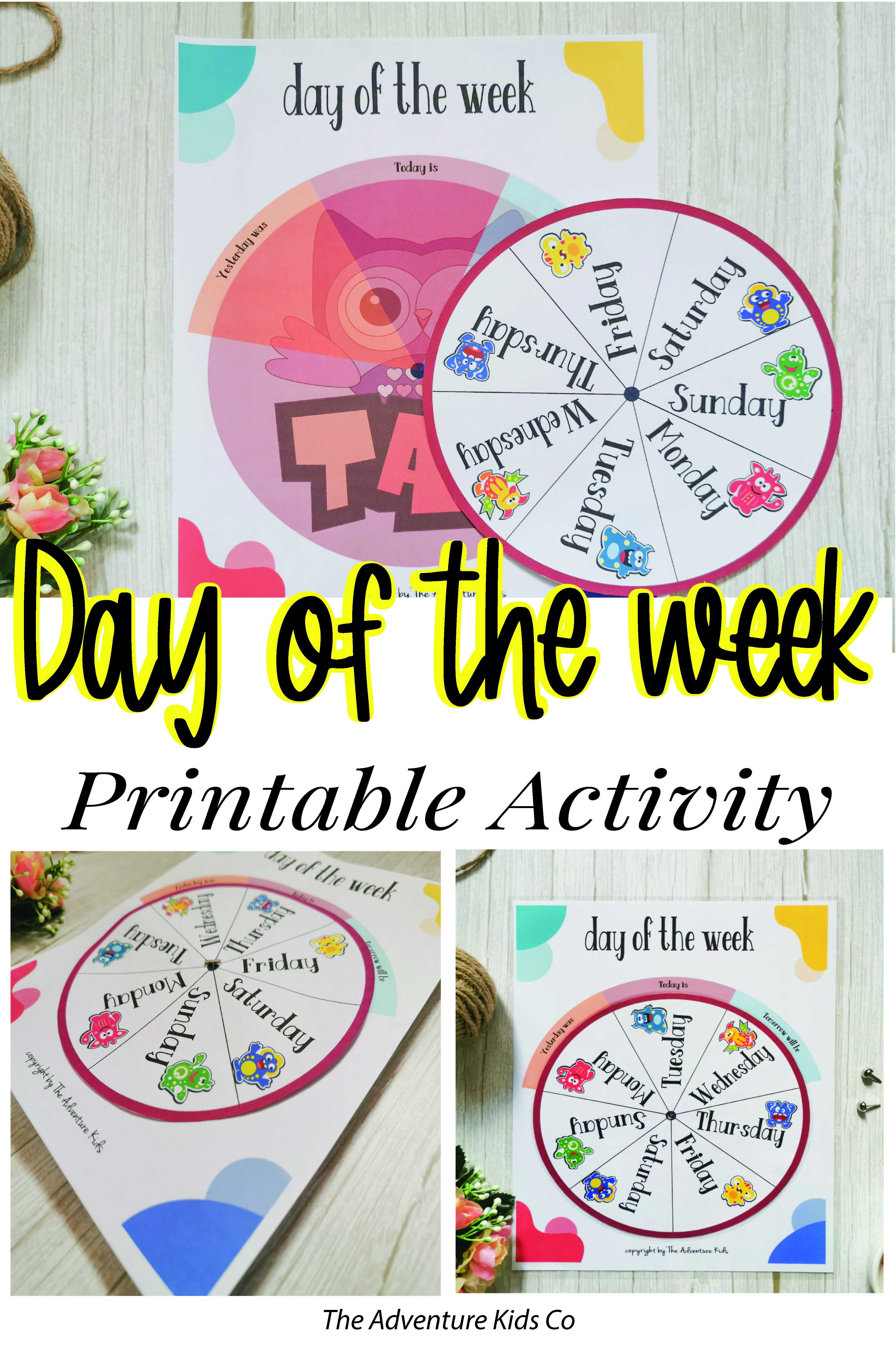Days Of The Week Printables Wheel Circle Time Today Is Day