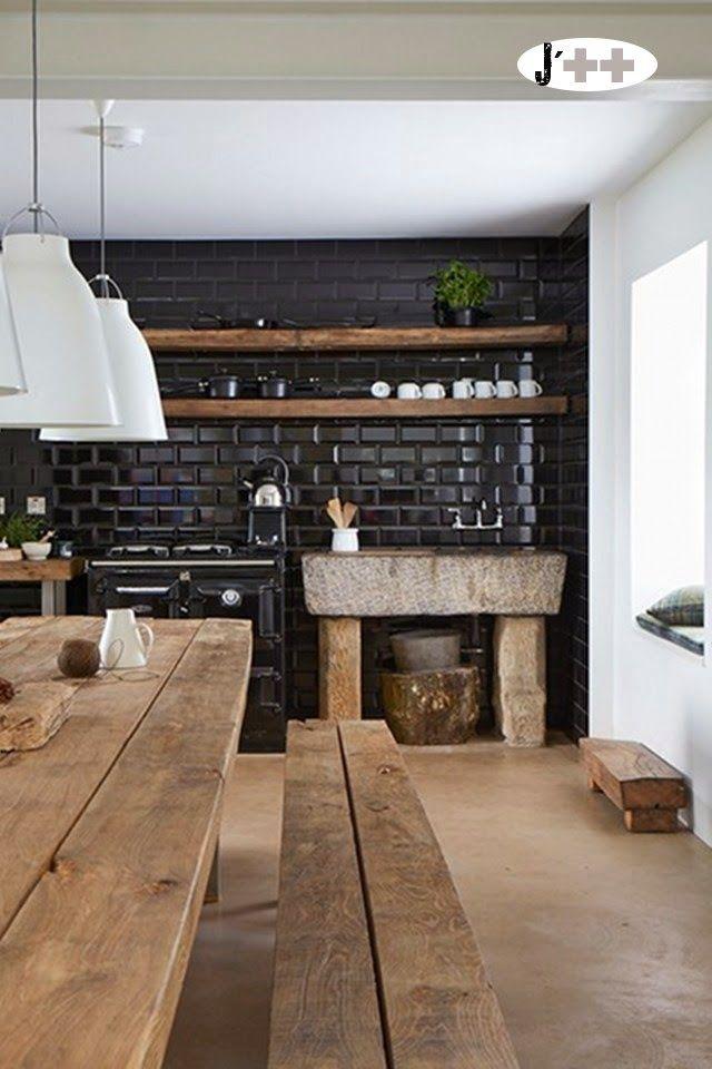 the black kitchen Design/ Interieur Pinterest Black kitchens - cuisine a l ancienne