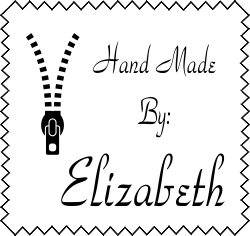 Hand Made By Zipper Zig Zag Rubber Stamp image