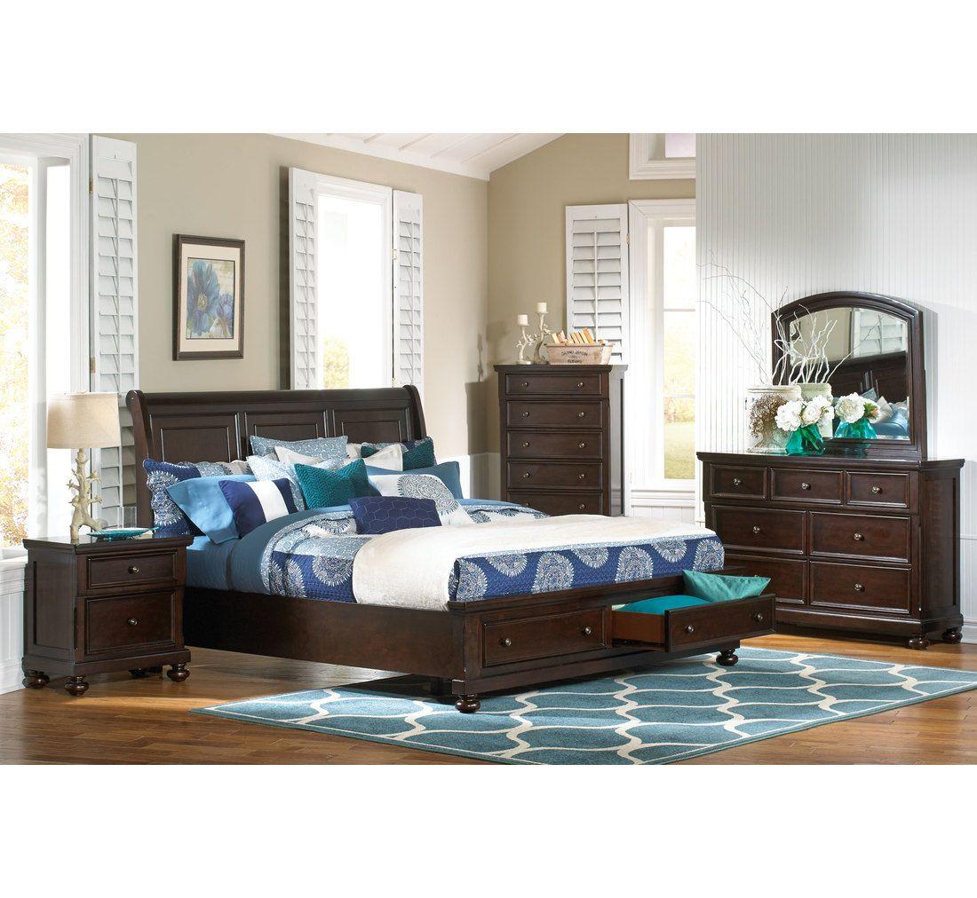 Stiles 5 Pc Queen Bedroom Group King bedroom, Furniture