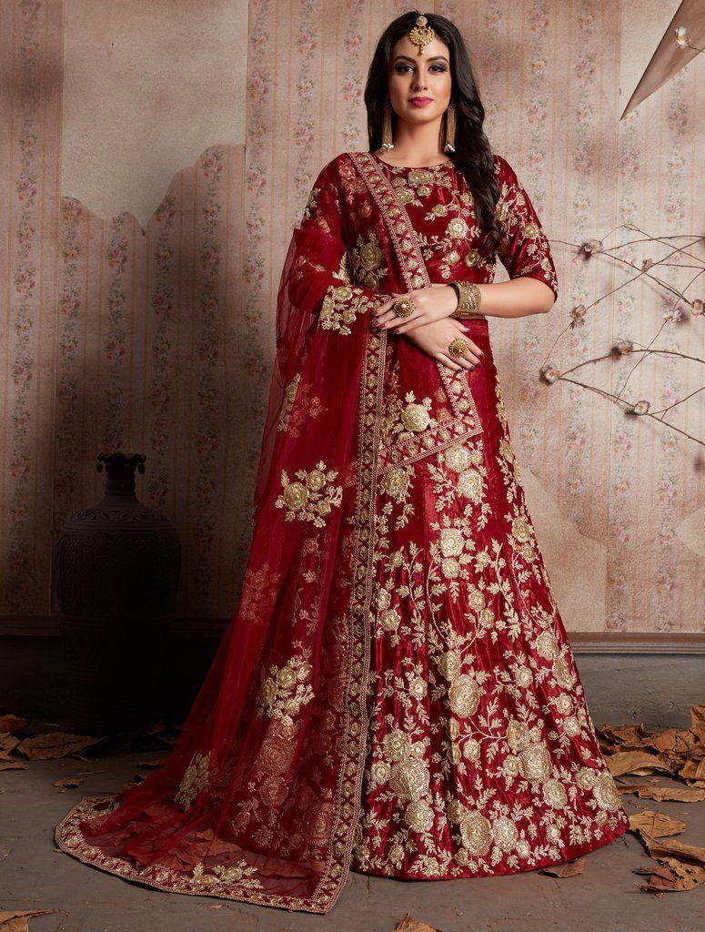 Qualified Lehenga Choli Wedding Designer Purple Bridal Indian Dulhan Embroidered Lehnga Women's Clothing