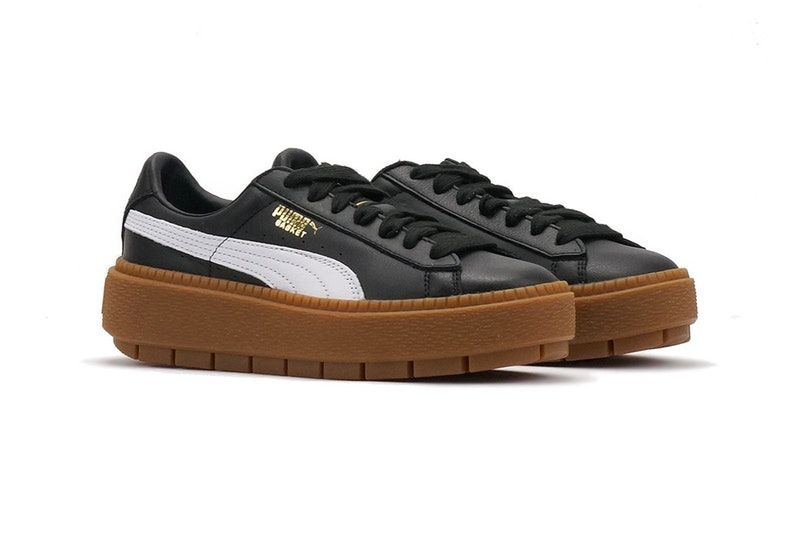 cheap for discount a711c c9cc7 PUMA's Basket Platform Trace Just Dropped in White and Black ...