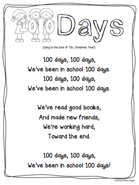 100th day of school free pdf sotry
