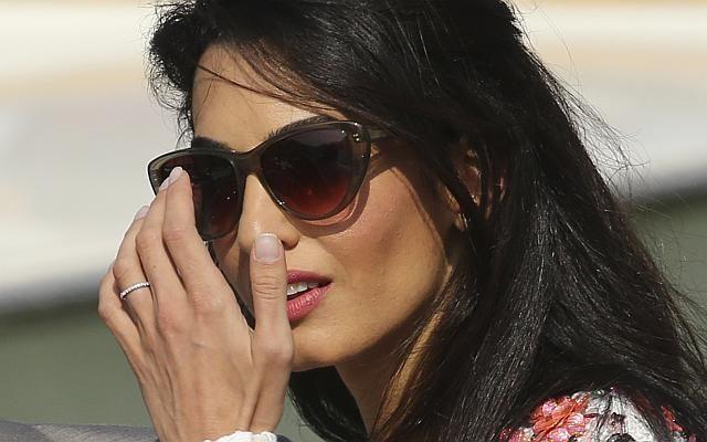 Like George Clooneys new wife Amal Alamuddins scallop set wedding