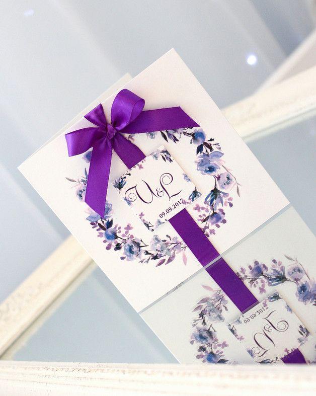 Hochzeitseinladungen violett