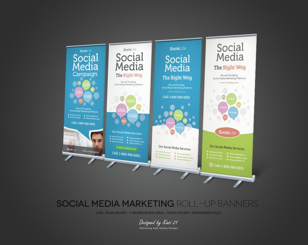 Souvent Social Media Marketing Roll-up Banners by kinzi.deviantart.com on  VW83