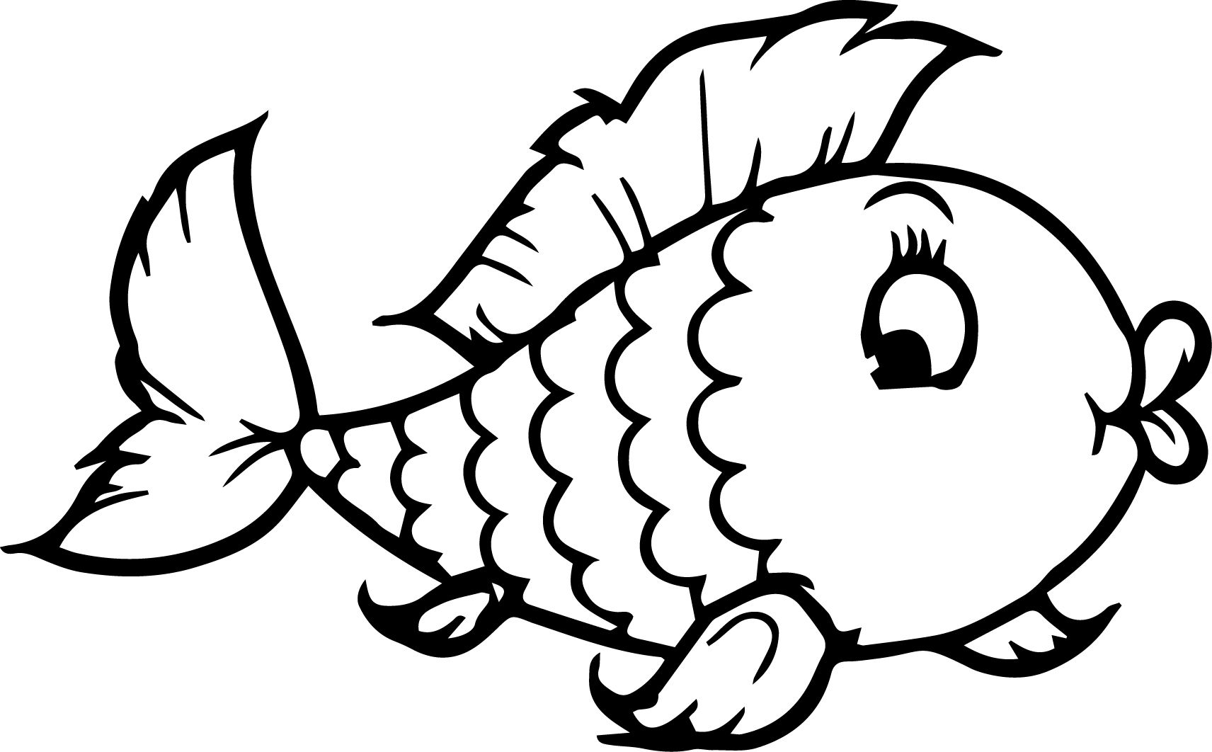 Fish Coloring Page Image By Pradeep Gamage On