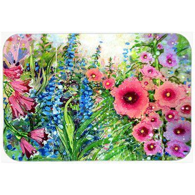 Caroline's Treasures Easter Garden Springtime Flowers Glass Cutting Board